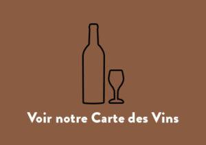 Sans boissons. Voir notre carte des vins.